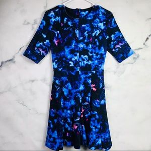McQ by Alexander McQueen Floral Fit Flare Dress